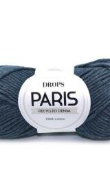 DROPS Paris 103 Mørkeblå Forvasket Recycled Denim