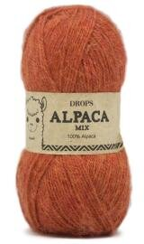 DROPS Alpaca 2925 Orange Meleret Mix