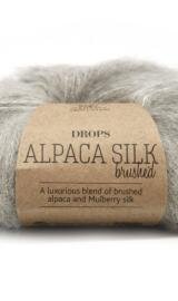DROPS Brushed Alpaca Silk 02 Lys Grå