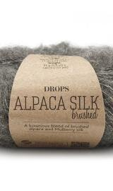 DROPS Brushed Alpaca Silk 03 Grå