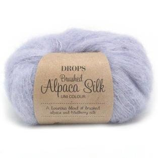 DROPS Brushed Alpaca Silk 17 Lys Lavendel